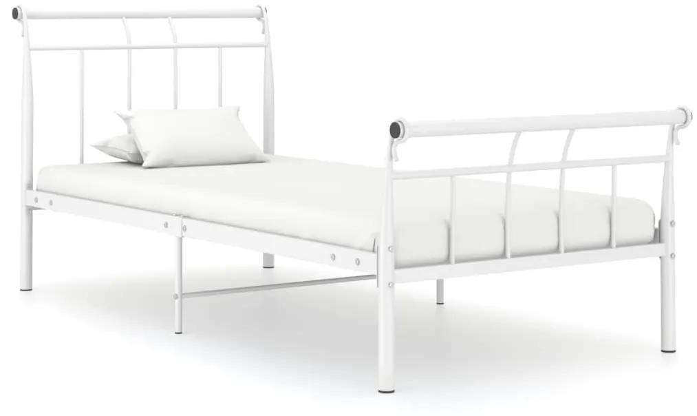 325034 vidaXL Cadru de pat, alb, 100x200 cm, metal
