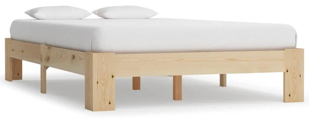 283282 vidaXL Cadru de pat, 120 x 200 cm, lemn masiv de pin