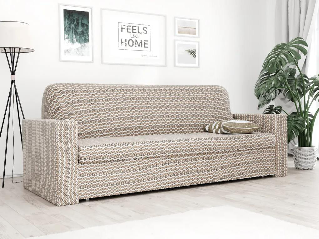 Husa elastica pentru canapea cu 3 locuri in maro Waves