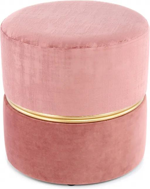 Puf/ Taburet tapitat Cleopatra roz