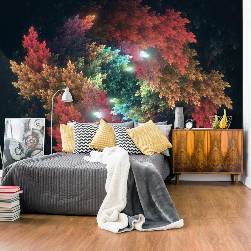 Bimago Fototapet - Colourful Forest 300x210 cm