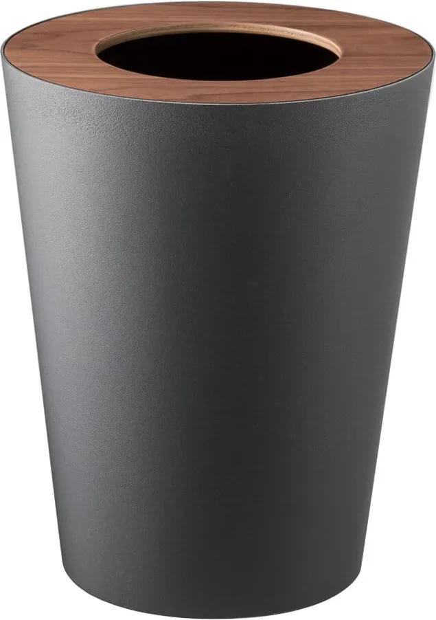 Coș de gunoi YAMAZAKI Rin Round, negru