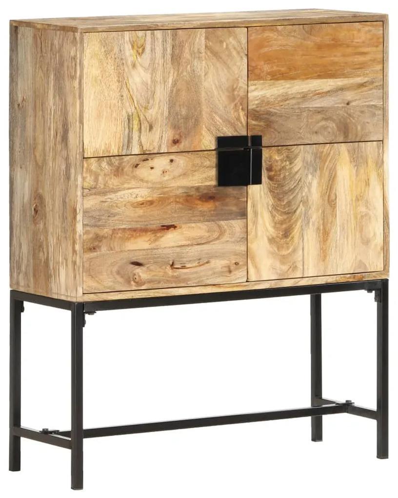 285867 vidaXL Comodă, 80 x 30 x 100 cm, lemn masiv de mango
