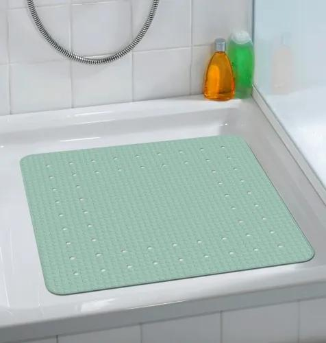 Covoras pentru baie antiderapant, din TPR, Mirasol Verde Mint, 54 x 54 cm