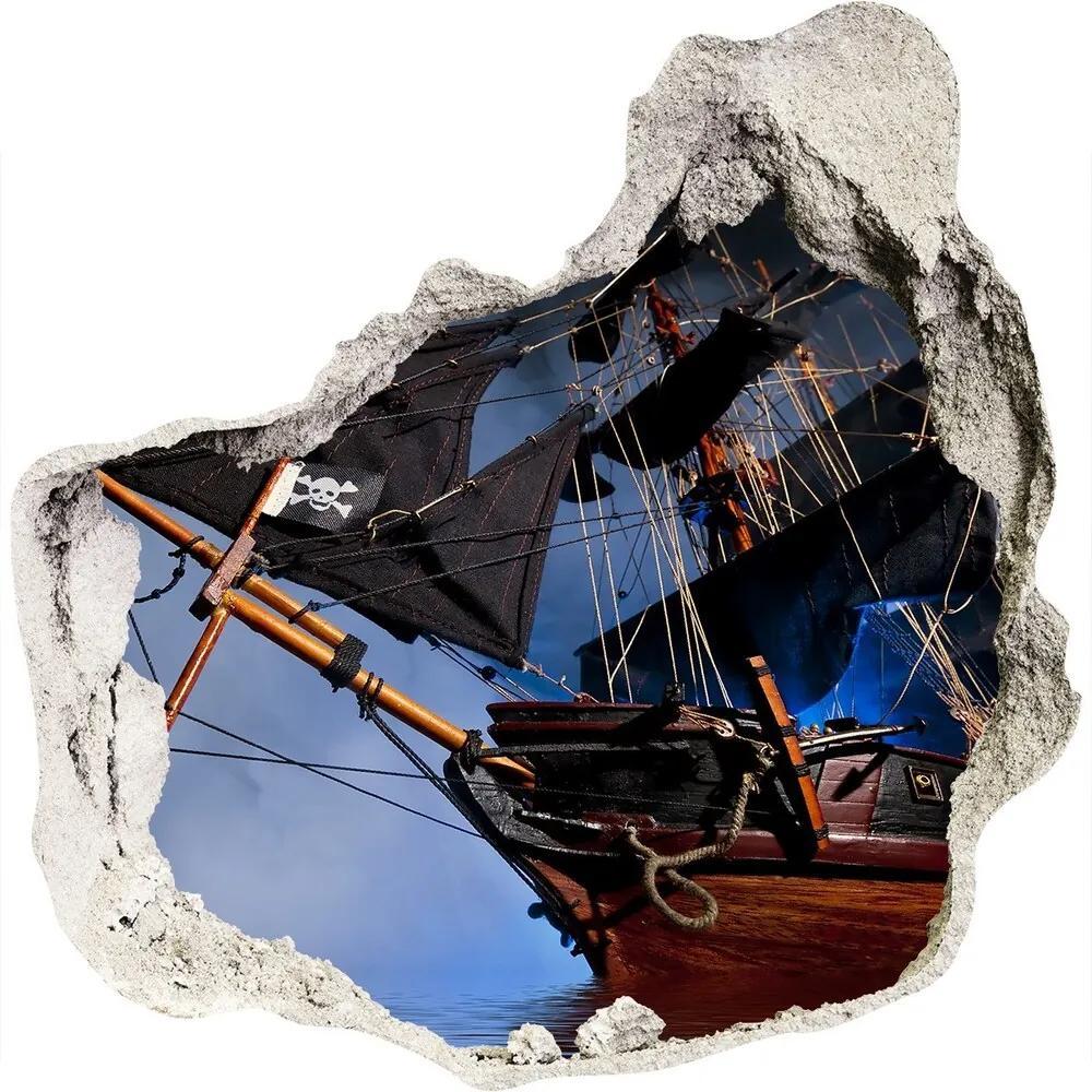 Autocolant autoadeziv gaură Corabie de pirati