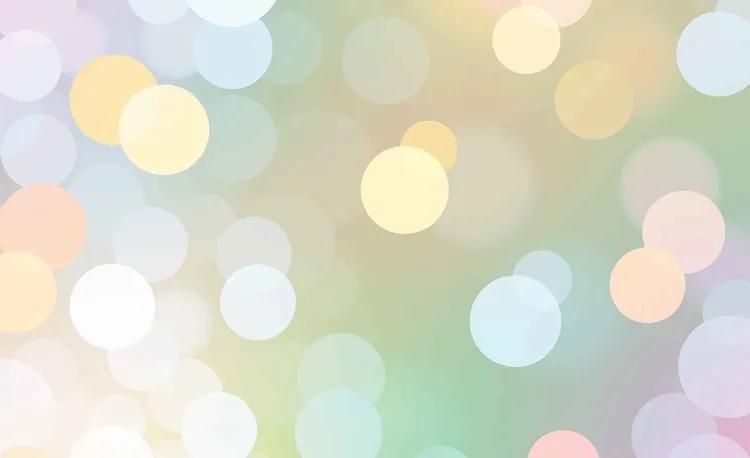 Abstract Bokeh Pastel Colour Fototapet, (104 x 70.5 cm)