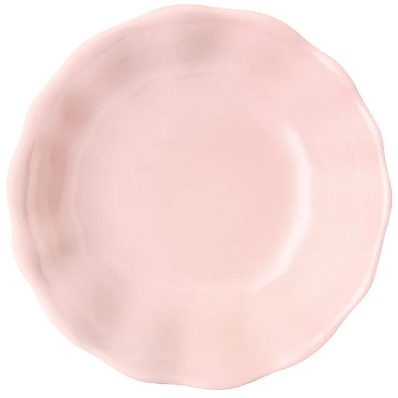 Farfurie desert 19cm roz Diana Rustic