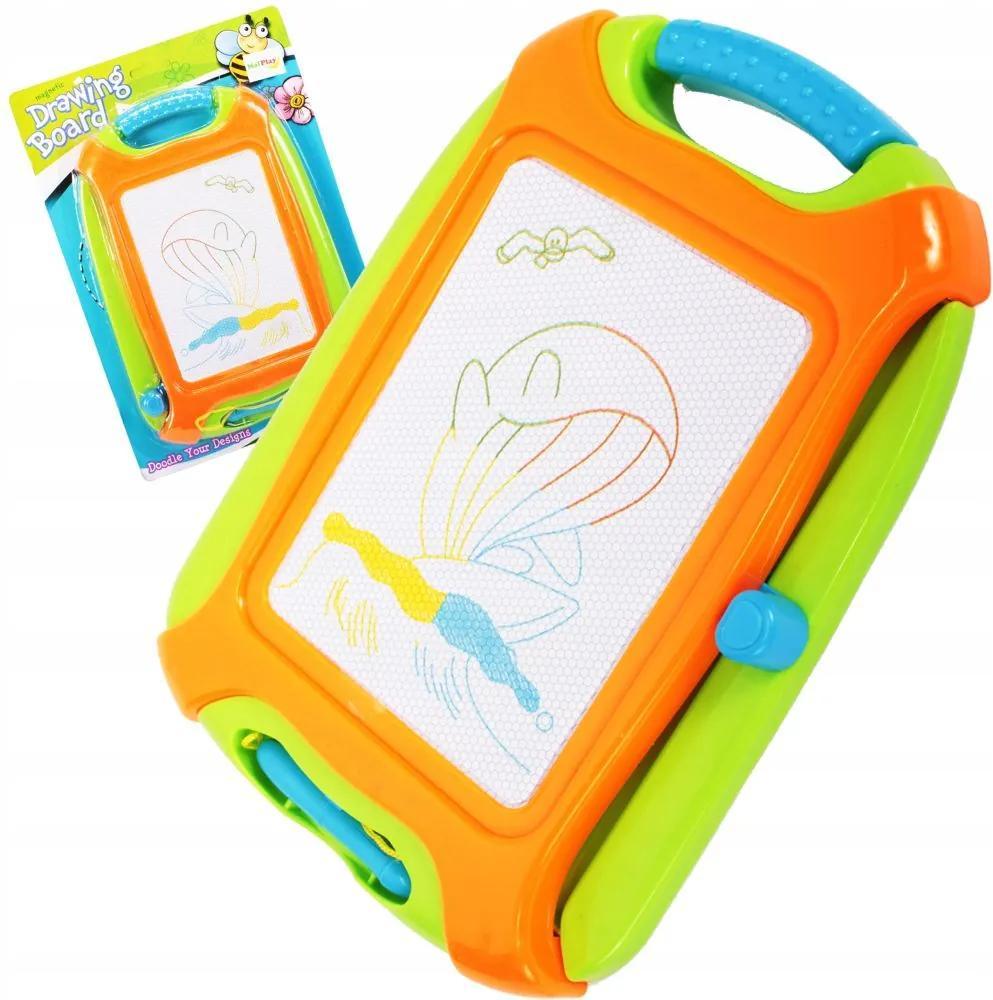 Tabla magnetica pentru desen, patru culori, verde/portocaliu