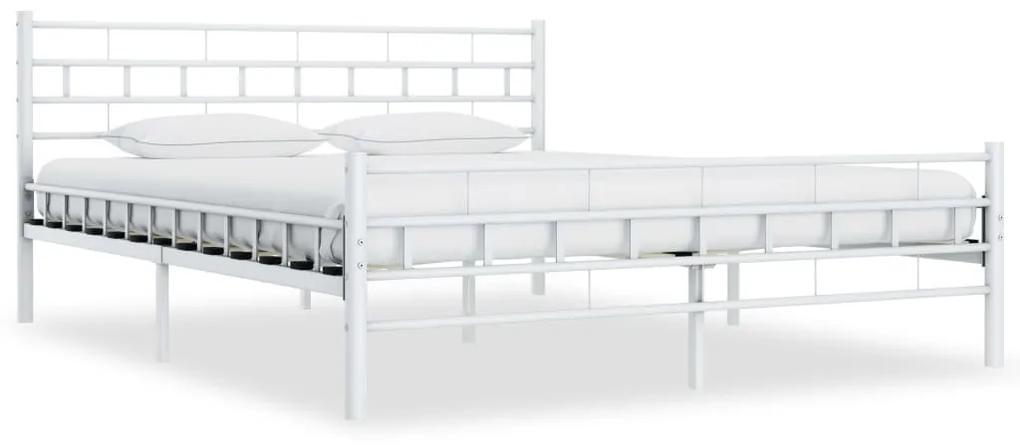 285299 vidaXL Cadru de pat, alb, 160 x 200 cm, metal