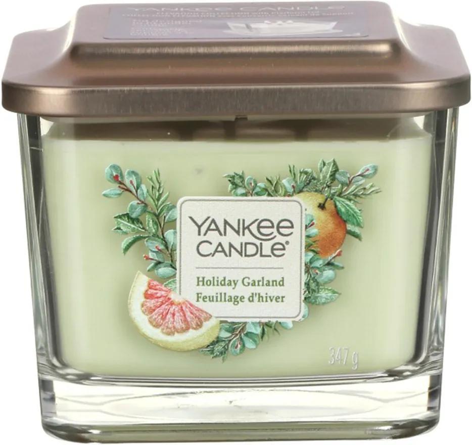 Yankee Candle lumanare parfumata Elevation Holiday Garland pătrata mijlocie 3 fitile