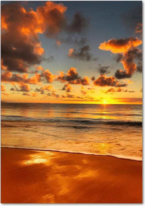 Tablou pe sticlă acrilică Plaja australian
