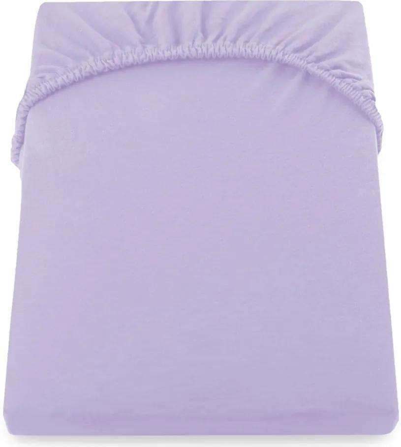 Cearșaf de pat DecoKing Amber Collection, 80-90 x 200 cm, violet
