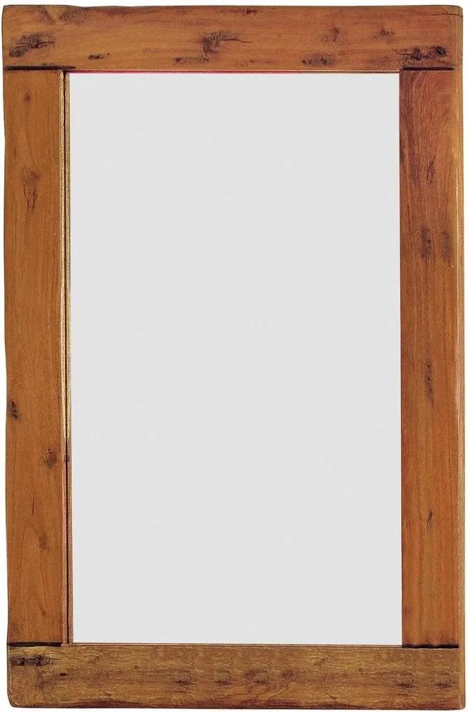 Oglinda decorativa perete cu rama lemn natur Chateaux 80 cm x 3 cm x 110 cm
