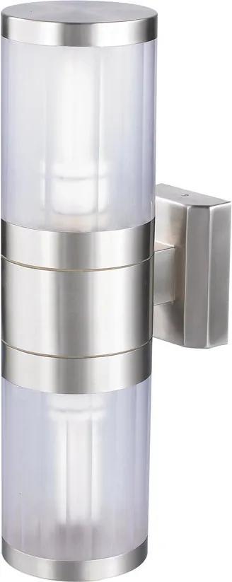 Rábalux 8167 Aplice de exterior Atlanta oțel inoxidabil metal E27 2x MAX 60W IP44
