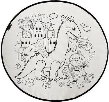 Covor colorabil cu marcaje Prince Charming, d 130 cm