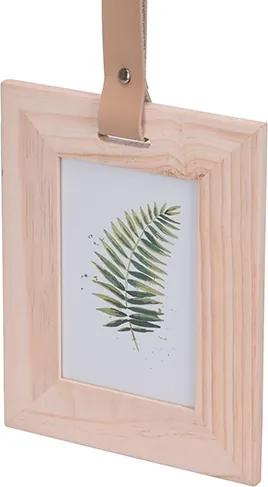 Rama foto Happy din lemn 17x54 cm