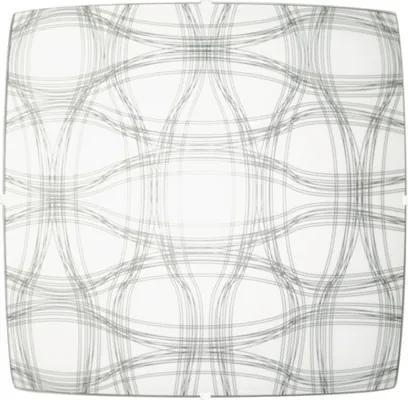 Plafoniera Top Light 5502/H/SOU/XL E27 max. 2x60W, alb cu linii gri