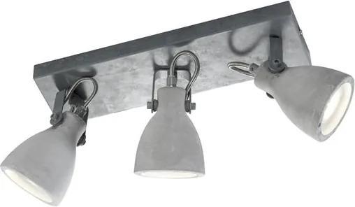 Trio 802500378 Plafoniere CONCRETE Beton metal excl. 3 x GU10, max. 42W IP20