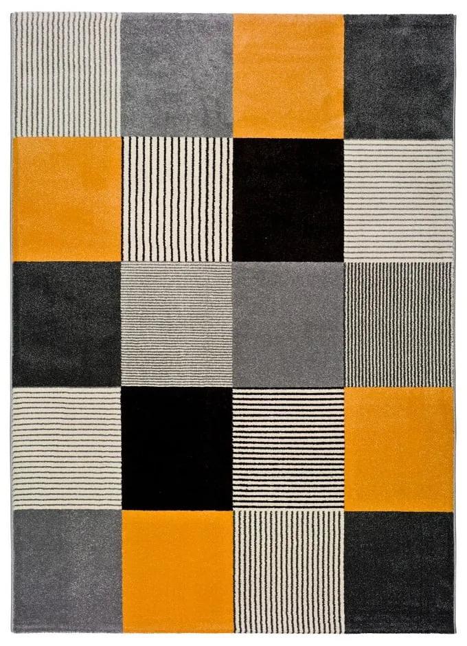 Covor Universal Gladys Lento, 160 x 230 cm, portocaliu-gri