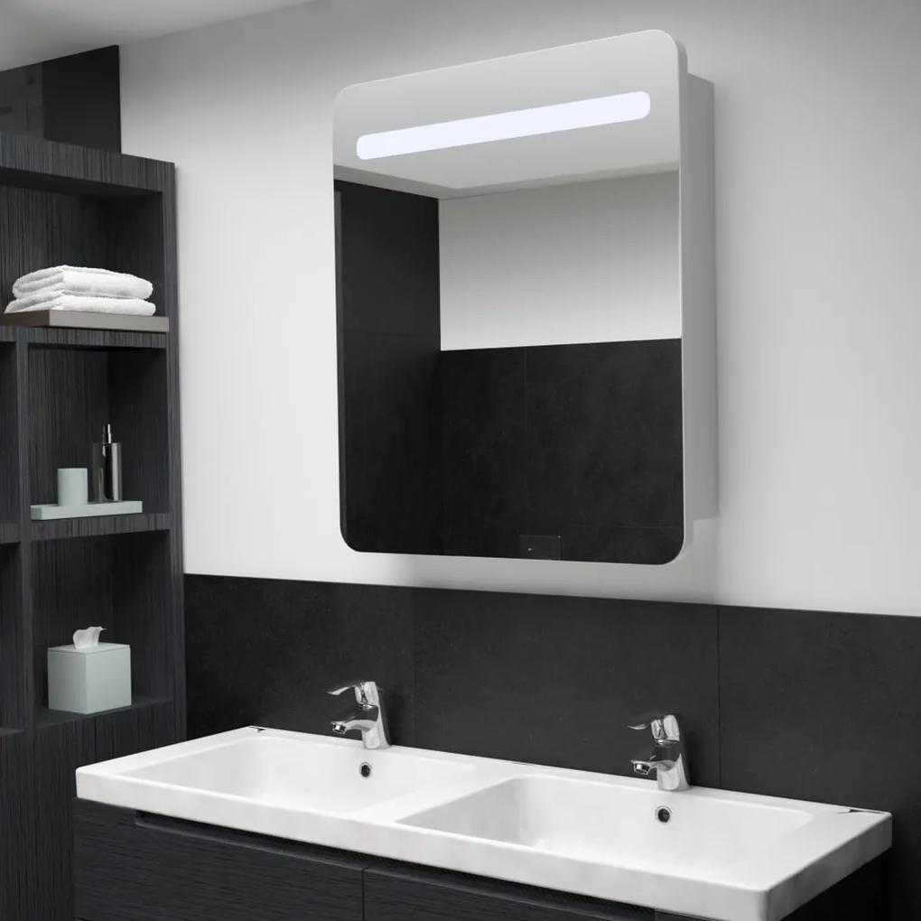 285119 vidaXL Dulap de baie cu oglindă și LED-uri, 68 x 9 x 80 cm