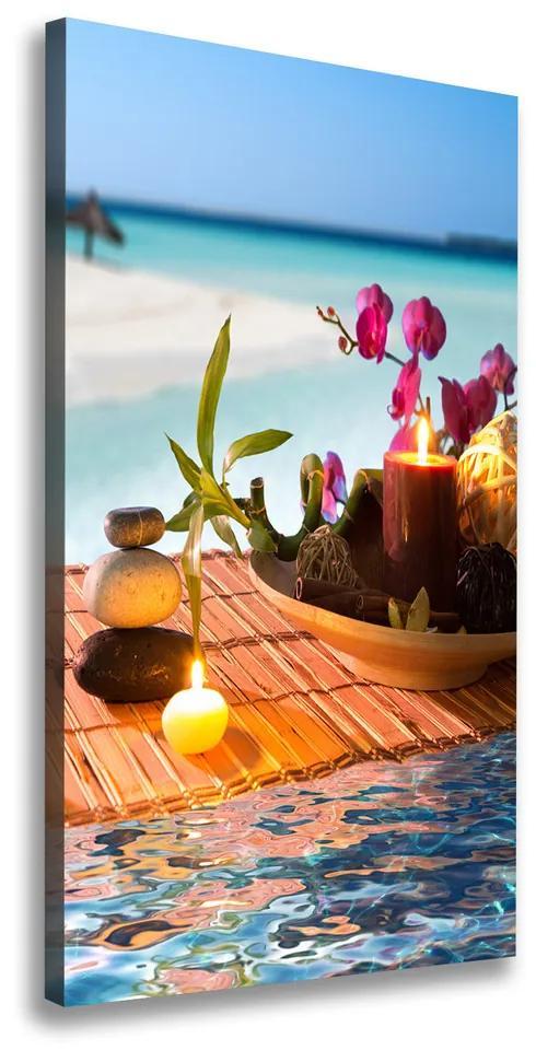 Tablou pe pânză canvas Orhidee și bambus