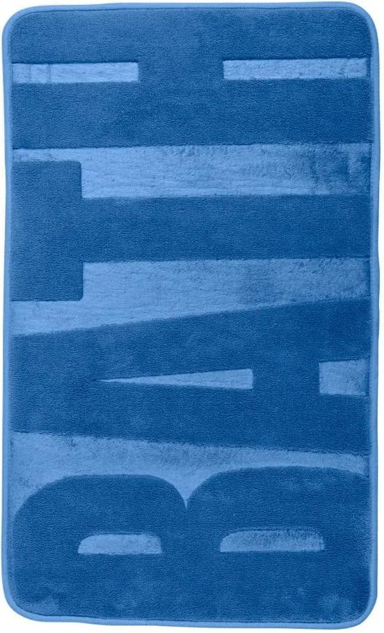 Covor baie cu spumă de memorie Wenko, 80 x 50 cm, albastru