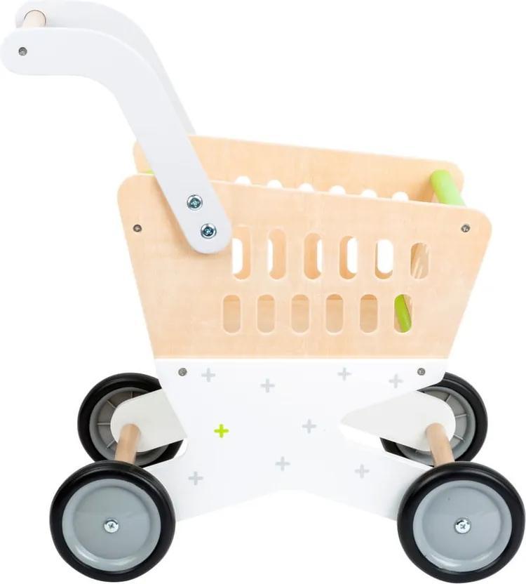 Cărucior de cumpărături din lemn pentru copii Legler Shopping