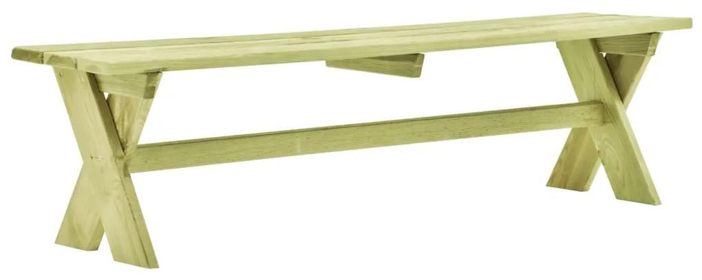 49031 vidaXL Bancă de grădină, 170 cm, lemn de pin tratat