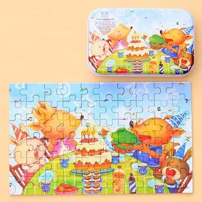 Puzzle din lemn - Petrecere 60buc