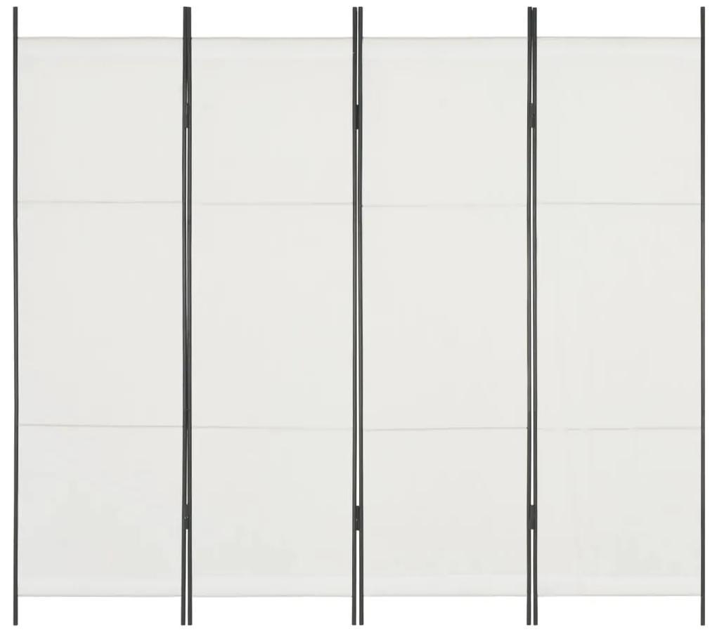 280251 vidaXL Paravan de cameră cu 4 panouri, alb, 200 x 180 cm
