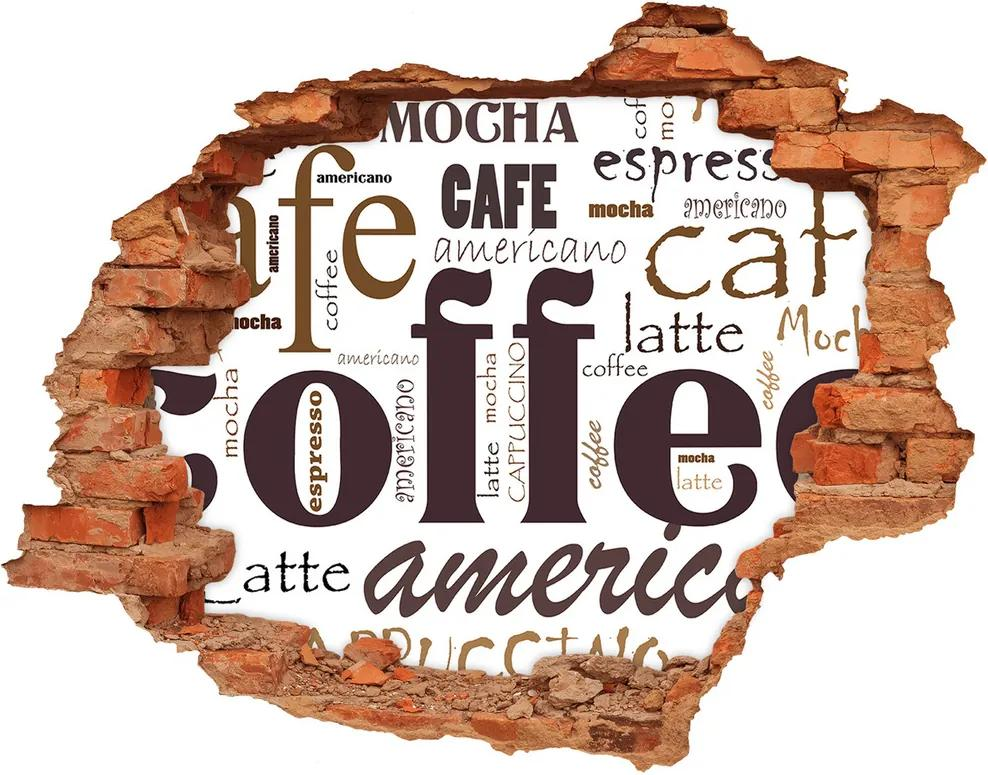 Autocolant gaură 3D Cafea
