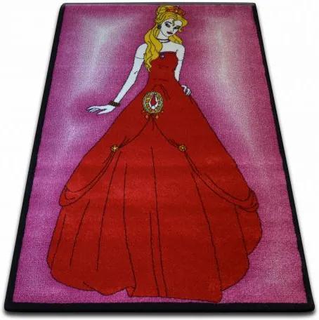 Covor Kids Prinţesă roz C425 120x170 cm