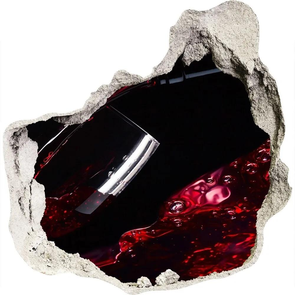 Autocolant 3D gaura cu priveliște Vin rosu
