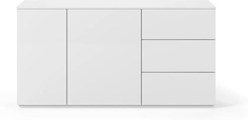 Comodă cu suprafață mată, cu 2 uși și 3 sertare TemaHome Join, lățime 160 cm, alb