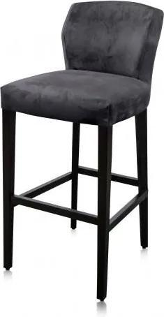 Scaun de bar din poliester cu picioare din fag Jasy 91