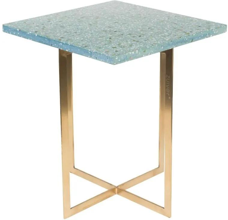 Masuta de cafea verde patrata Side Table Luigi Square Green