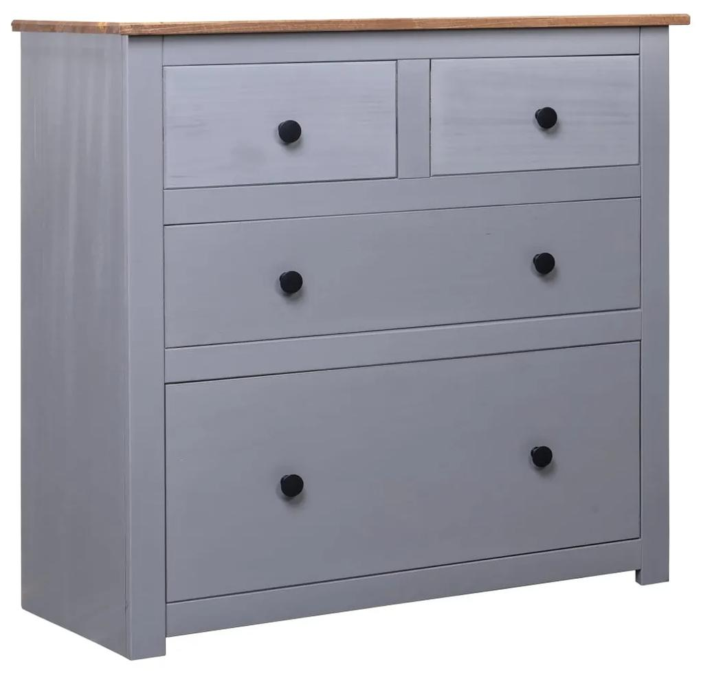 282656 vidaXL Servantă, gri, 80 x 40 x 83 cm, lemn de pin, gama Panama