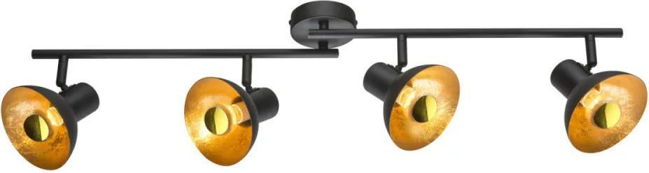 Globo 54001-4 Plafoniere LOTTE negru metal LED - 4 x E14 max. 4W 136lm 2700K IP20 A+