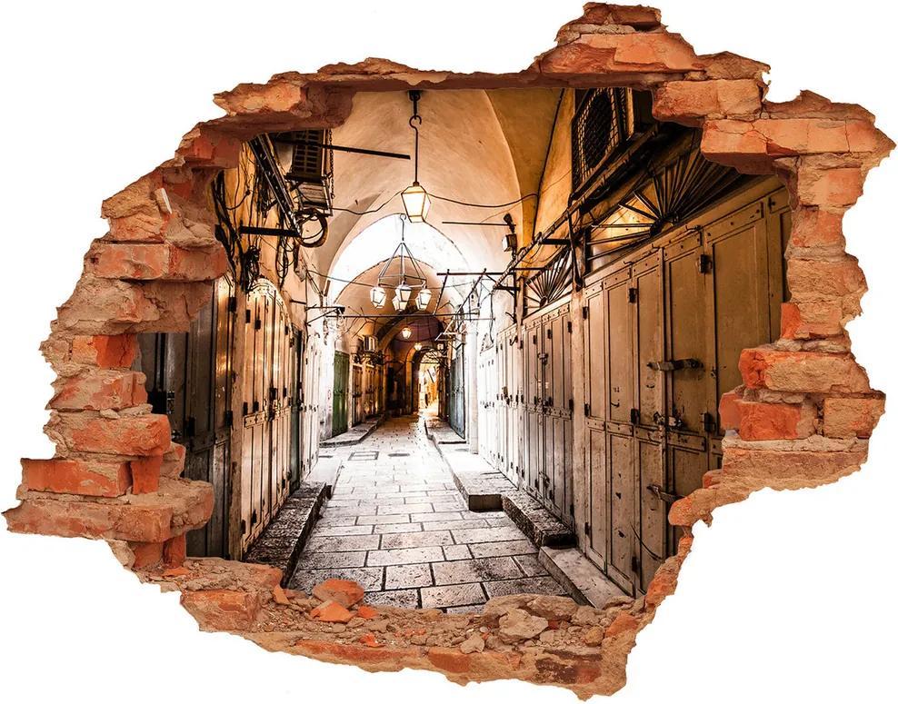 Fototapet 3D gaură în perete Ierusalim