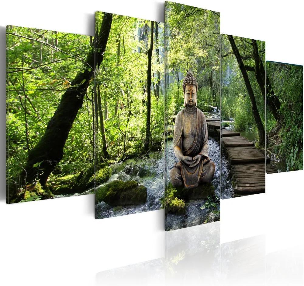 Tablou Bimago - Stream of consciousness 100x50 cm