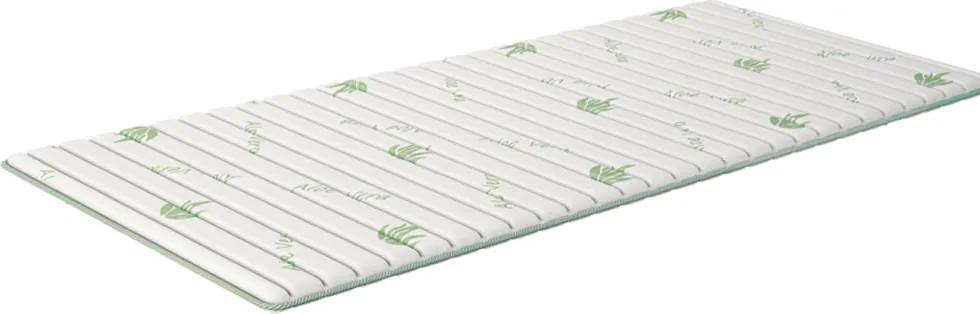 Topper Smart Aloe 90x200 cm isleep, memory foam, moale, 3 cm, husa textil antibacterian cu Aloe Vera