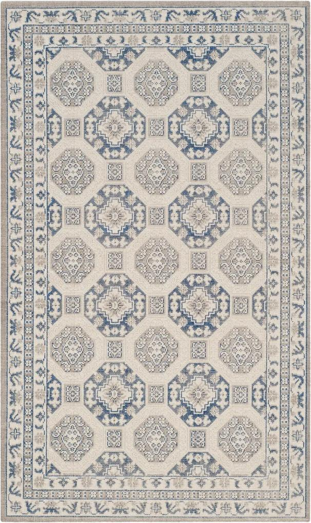 Covor Oriental & Clasic Pasadena, Albastru/Bej, 90x150