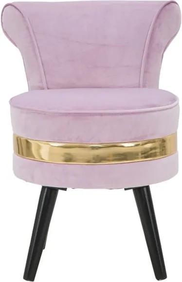 Fotoliu tapițat, cu spătar jos Mauro Ferretti Paris, roz deschis