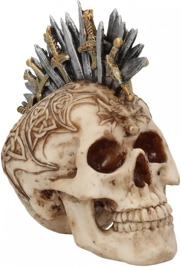 Statueta craniu Creasta de sabii 18 cm