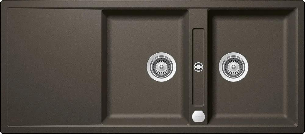Chiuveta Granit Schock Mono D-200 Carbonium Cristadur 1160 x 510 mm cu Sifon Automat
