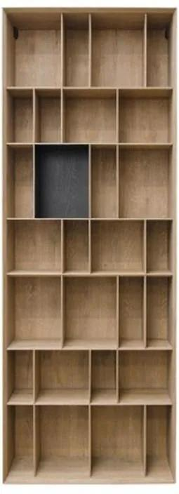 Biblioteca maro din MDF 90x36x245 cm Bibli