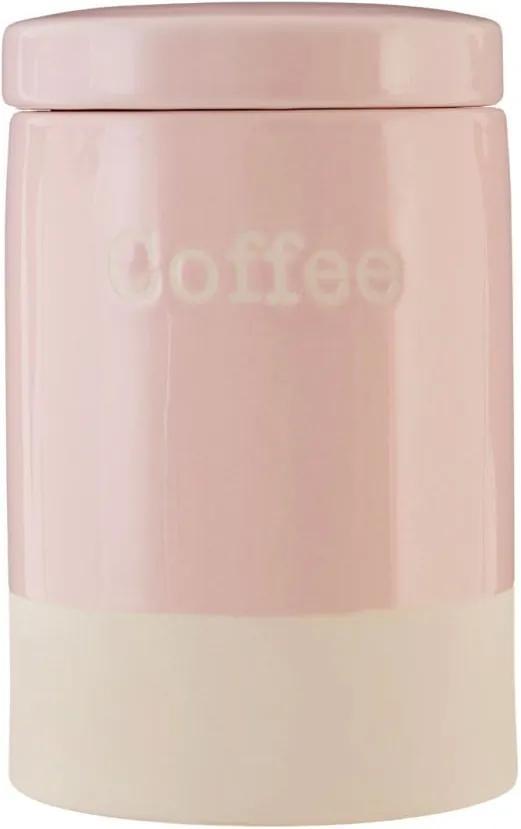 Recipient din ceramică pentru cafea Premier Housewares, 616 ml, roz