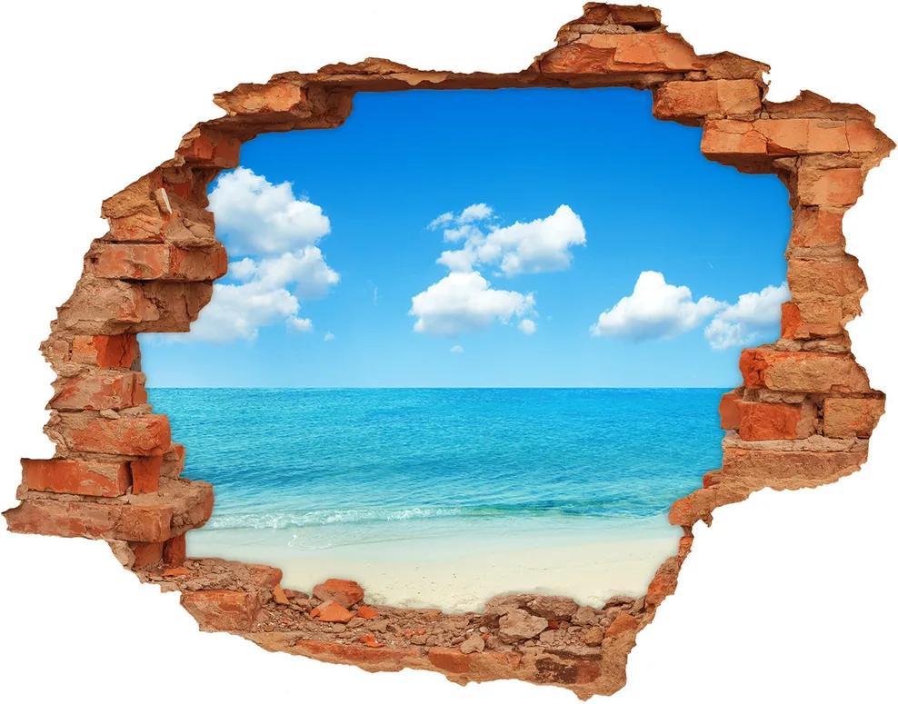 Autocolant gaură 3D Paradise Beach