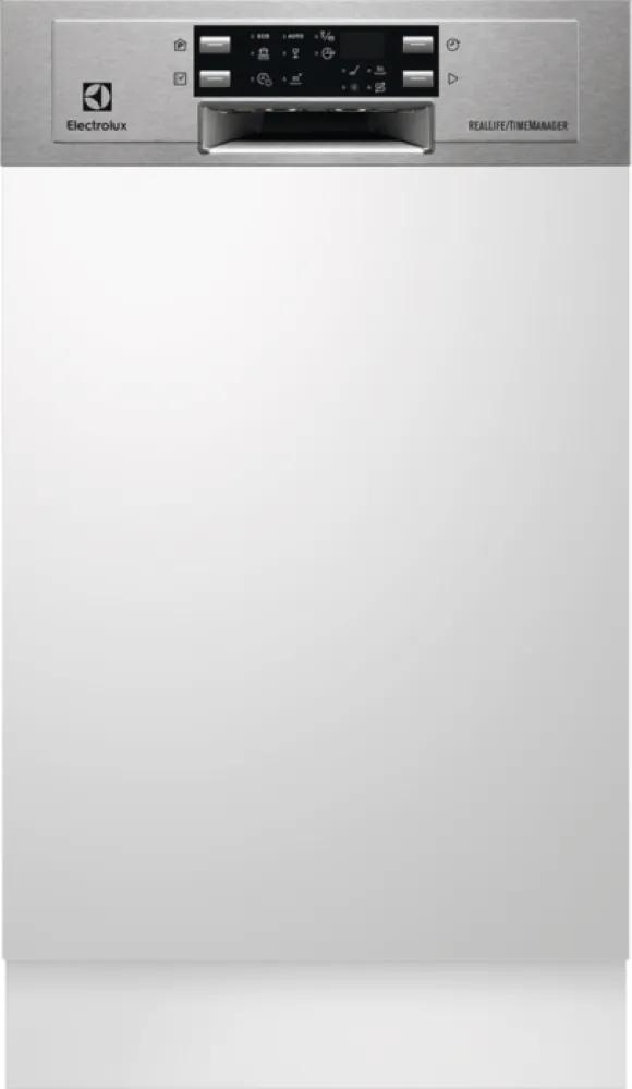 Masina de spalat vase partial incorporabila Electrolux ESI4501LOX, 45 cm, inox, inverter