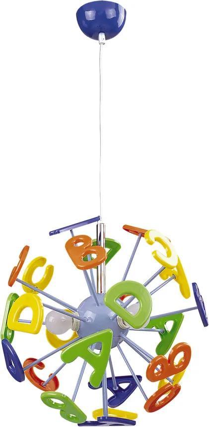 Rábalux 4716 Pendule pentru copii Abc multicolor metal E14 3x MAX 40W IP20